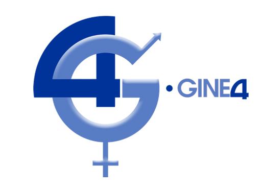 Logo del nombre de Gine4